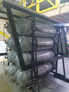 ASME Certified 1600 ltr. Ground Storage Cascade.