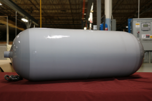 WireTough Cylinders manufactures a wide variety of capacities, offering solutions for many platforms and configurations. (122 ltr. shown)